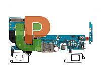 Шлейф Samsung A500F Galaxy A5 Duos (2015) с разъемом зарядки с разъмом наушников с кнопкой меню (Home) с