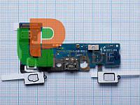 Шлейф для Samsung E500F Galaxy E5, с разъемом зарядки, с разъемом наушников, с кнопкой меню (Home), с микрофоном