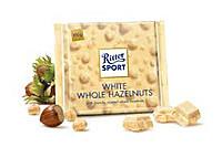 Шоколад Ritter Sport WHITE WHOLE HAZELNUTS (с цельным лесным орехом) Германия 100г