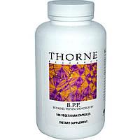 Thorne Research, Б.П.П., бетаин / пепсин / панкреатин, 180 растительных капсул