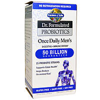 Garden of Life, Dr. Formulated Probiotics, Once Daily для мужчик, 30 вегетарианских капсул