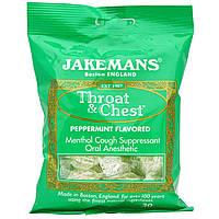 Jakemans, Леденцы от кашля Throat & Chest со вкусом мяты перечной, 30 леденцов