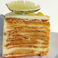 Торт Медовик с лимонно-лаймовым курдом
