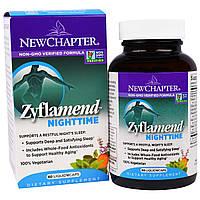 """New Chapter, """"Zyflamend ночной"""", пищевая добавка для здорового сна, 60 капсул в растительной оболочке с жидкостью"""