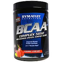 Dymatize Nutrition, БЦАА комплекс 5050, аминокислоты с разветвленной цепью, вишневый лаймад, 10,6 унций (300 г)