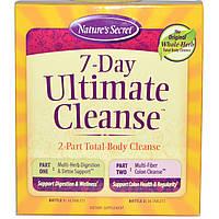 Nature's Secret, 7-дневная программа полной очистки организма, 2-фазная- полное очищение организма