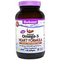Bluebonnet Nutrition, Натуральный омега-3 состав для сердца, 120 мягких капсул