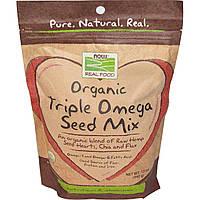 Now Foods, Органическая смесь семян с Омега, 12 унций (340 г)