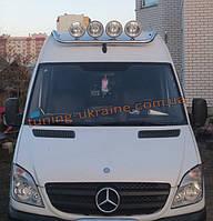Дуга на крышу люстра из нержавейки на Mercedes Sprinter 2006-2013