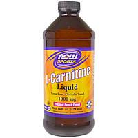 Now Foods, Жидкий L-Карнитин, со вкусом тропических фруктов, 100 мг, 16 жидких унций (473 мл)