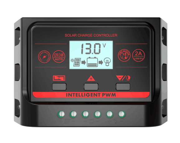 Контролер заряду PowMr 30 А (2 USB по 2.5 А)
