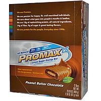 Promax Nutrition, Promax LS, энергетический батончик с арахисовым маслом и шоколадом, низкое содержание сахара, 12 шт по 67 г