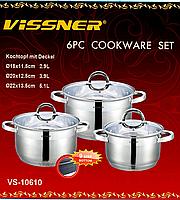 Набор кастрюль Vissner VS 10610  6 предметов