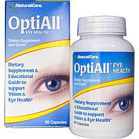 Natural Care, OptiAll здоровье глаз, 60 капсул