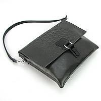Серая кожаная сумка-клатч Velina Fabbiano