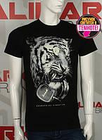 Valimark cтильная мужская футболка светится в темноте тигр с наушниками код 17174