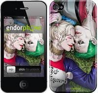 """Чехол на iPhone 4s Джокер и Харли Квинн v2 """"3806c-12"""""""