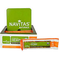 """Navitas Organics, """"Суперпродукт+ конопля"""", конопляные батончики-суперпродукт с густой арахисовой пастой, 12 шт., 16,8 унций (480 г)"""