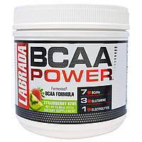 """Labrada Nutrition, """"Сила BCAA"""", аминокислоты с разветвленными боковыми цепями (BCAA), со вкусом клубники и киви, 15,06 унций (427 г)"""