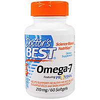 Doctor's Best, Омега-7, 210 мг, 60 мягких капсул