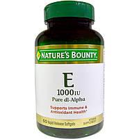Nature's Bounty, Vitamin E, Pure Dl-Alpha, 450 mg (1000 IU), 60 Rapid Release Softgels