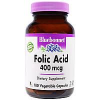 Bluebonnet Nutrition, Фолиевая кислота 180 овощных капсул
