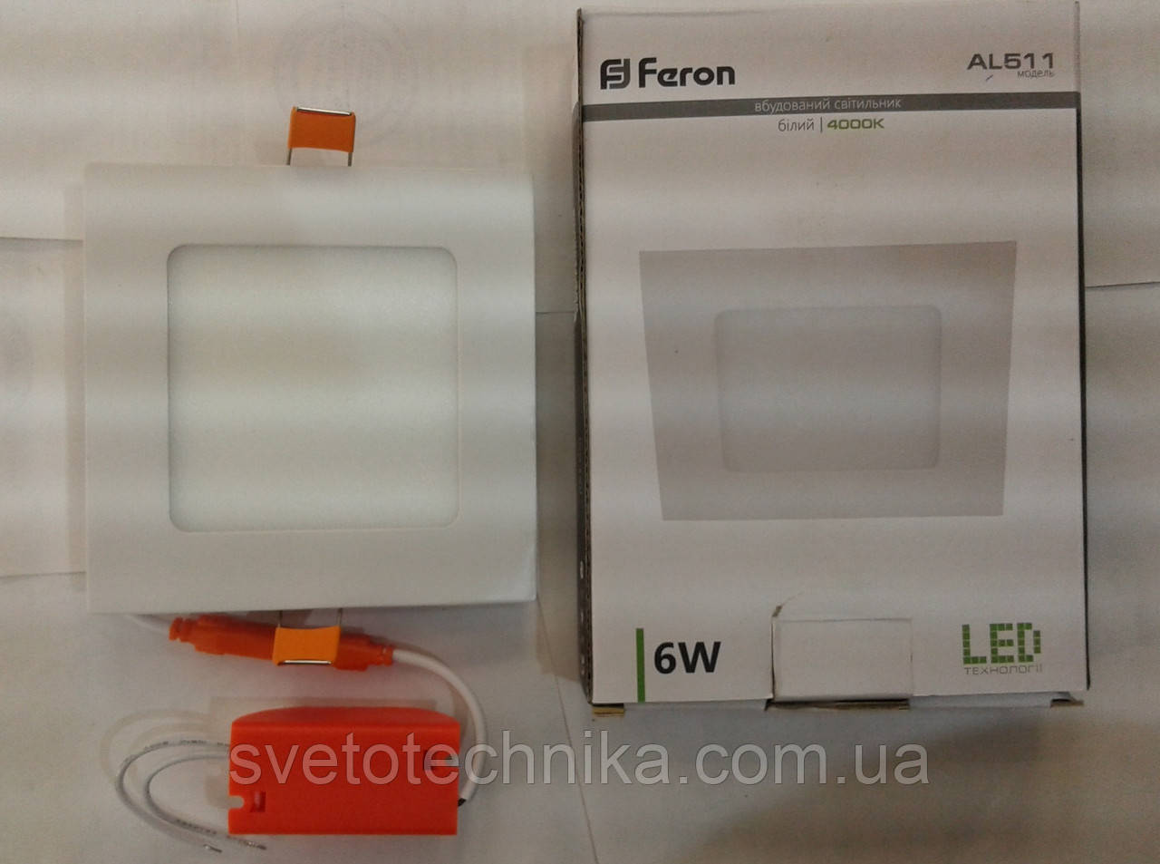 Светодиодная панель Feron AL511 6W 4000K (корпус-белый)