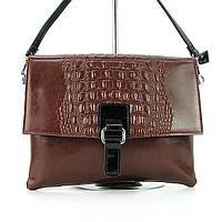 Коричневая кожаная сумка-клатч Velina Fabbiano
