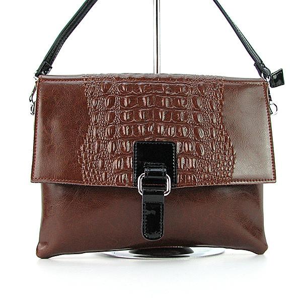 34f160e13d3b Коричневая кожаная сумка-клатч Velina Fabbiano: продажа, цена в ...