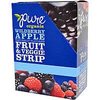 Pure Bar, Organic, фруктово-овощные батончики, лесные ягоды и яблоко, 24 батончика по 0,49 унции (14 г) каждый