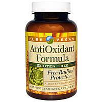 Pure Vegan, Формула с антиоксидантами 90 овощных капсул