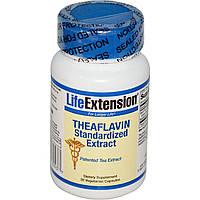 Life Extension, Стандартизированный экстракт теафлавина, 30 вегетарианских капсул