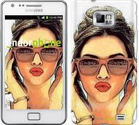 "Чехол на Samsung Galaxy S2 i9100 Девушка_арт ""3005c-14"""