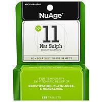 Hyland's, NuAge, № 11 Nat Sulph (сульфат натрия), 125 таблеток
