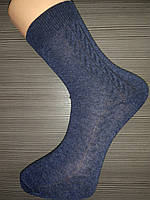 Носки мужские х/б с рисунком цвет джинс