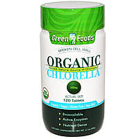 Green Foods Corporation, Органическая хлорелла, 500 мг, 120 таблеток