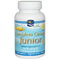 Nordic Naturals, Полный омега комплекс для детей, с лимоном, 500 мг, 90 жевательных гелевых капсул