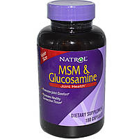 Natrol, МСМ и глюкозамин, 180 капсул