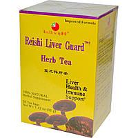 Health King, Травяной чай с рейшей для защиты печени, без кофеина, 20 чайных пакетиков, 1,12 унции (32 г)