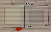 Светодиодная панель Feron AL511 18W 4000K (корпус-белый)