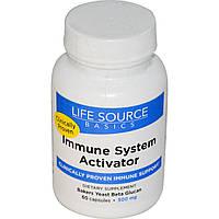 Life Source Basics (WGP Beta Glucan), Активатор иммунной системы, 500 мг, 60 капсул