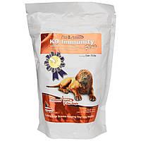 Aloha Medicinals Inc., K9 Immunity Plus, для собак весом более 70 фунтов (31,7 кг), таблетки со вкусом печени и рыбы, 90 жевательных таблеток