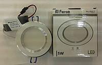 Светодиодная панель встраиваемая Feron AL527 5W 4000K (корпус-белый), фото 1