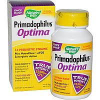 Nature's Way, Примадофилус, комплекс пробиотиков для всех возрастов, 60 капсул