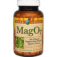 Pure Vegan, Mag O7, Очищающее средство для пищеварительной системы, насыщенное кислородом, 120 вегетарианских капсул