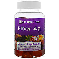Nutrition Now, Fiber, Natural Peach, Strawberry and Blackberry Flavors, 60 Gummies