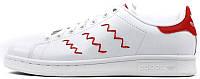 Женские кроссовки Adidas Stan Smith Zig Zag White/Red