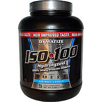 Dymatize Nutrition, ISO 100 гидролизованный 100% изолят сывороточного белка, изысканная ваниль, 3 фунта (1 346 г)