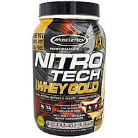 Muscletech, Nitro Tech 100%-ный Сывороточный Золотой Белок, Печенье с Кремом, 1,00 фунта (454 г)