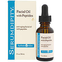 Madre Labs, Serumdipity, омолаживающее масло для лица с пептидами, продукт для предотвращения морщин, 30 мл